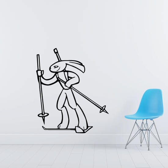 Skiing Wall Decal - Vinyl Decal - Car Decal - CDS005