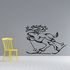 Skiing Wall Decal - Vinyl Decal - Car Decal - CDS008
