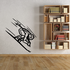 Skiing Wall Decal - Vinyl Decal - Car Decal - CDS026