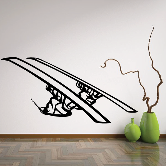 Skiing Wall Decal - Vinyl Decal - Car Decal - CDS027