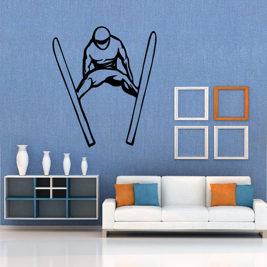 Skiing Wall Decal - Vinyl Decal - Car Decal - CDS029