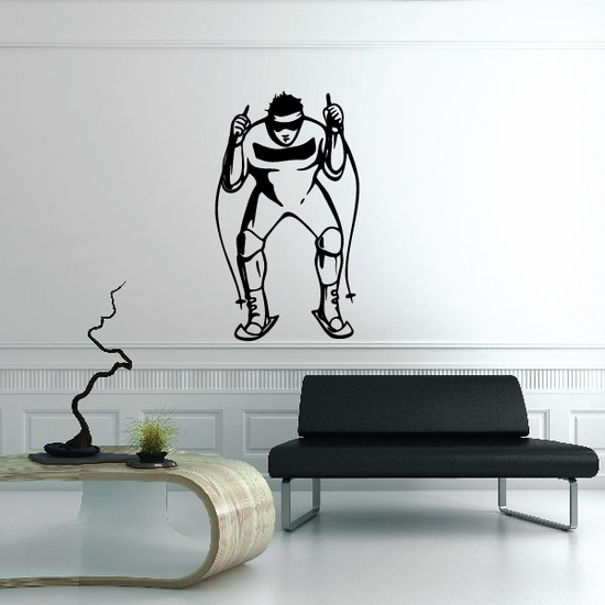 Skiing Wall Decal - Vinyl Decal - Car Decal - CDS031