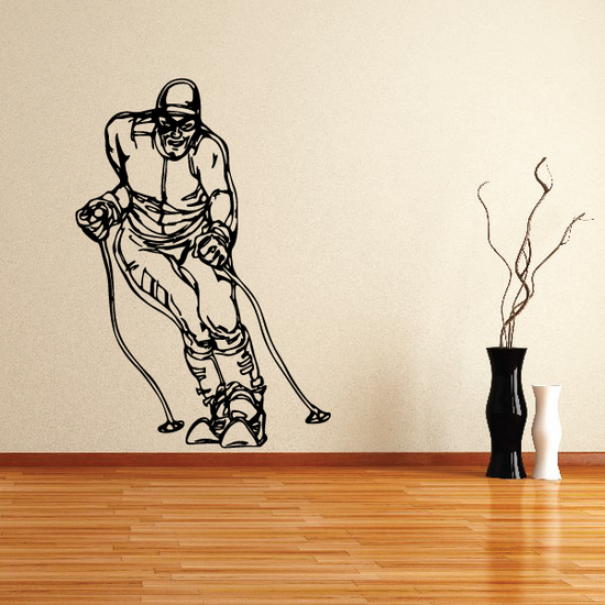 Skiing Wall Decal - Vinyl Decal - Car Decal - CDS043