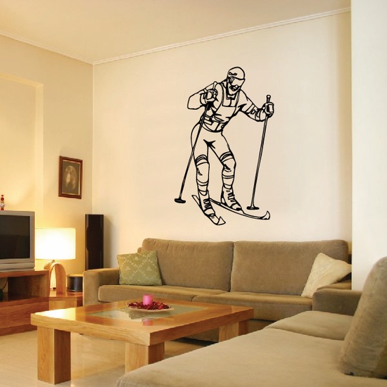 Skiing Wall Decal - Vinyl Decal - Car Decal - CDS050