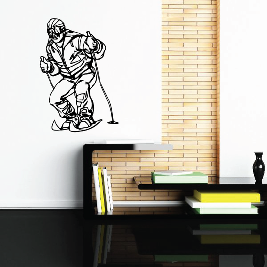 Skiing Wall Decal - Vinyl Decal - Car Decal - CDS055