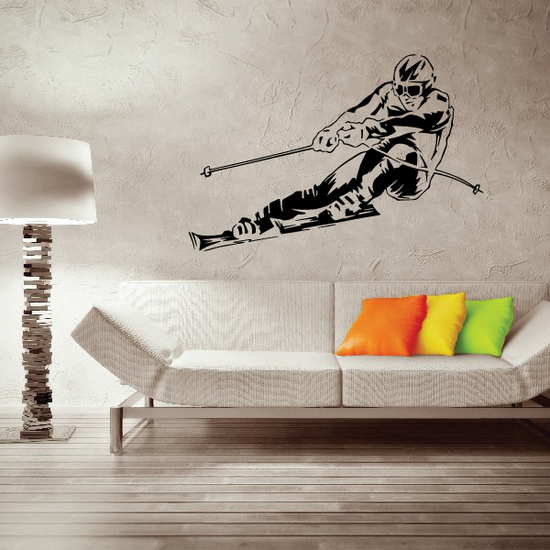 Skiing Wall Decal - Vinyl Decal - Car Decal - CDS064