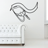 Skiing Wall Decal - Vinyl Decal - Car Decal - CDS071