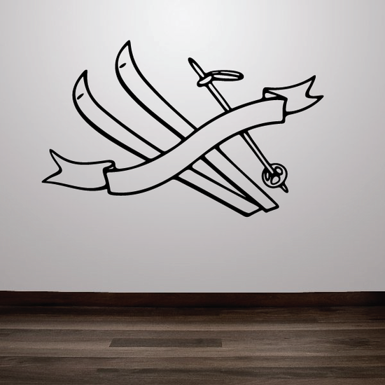 Skiing Wall Decal - Vinyl Decal - Car Decal - CDS072