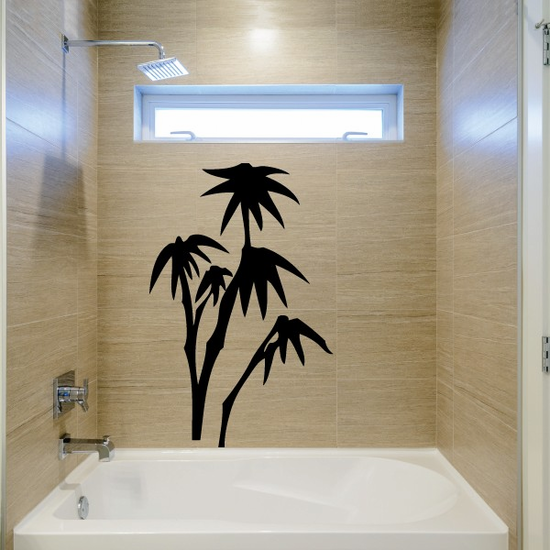 Bamboo Plant and leaves Decal