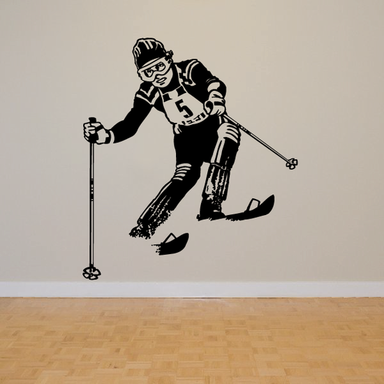 Skiing Wall Decal - Vinyl Decal - Car Decal - Bl005