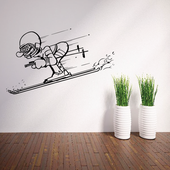 Skiing Wall Decal - Vinyl Decal - Car Decal - Bl009
