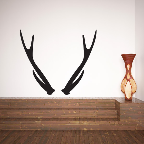 Red Stag Antlers Decal