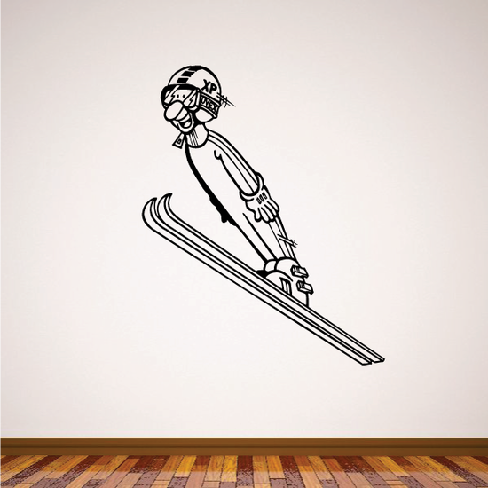 Skiing Wall Decal - Vinyl Decal - Car Decal - Bl014