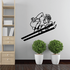 Skiing Wall Decal - Vinyl Decal - Car Decal - Bl015