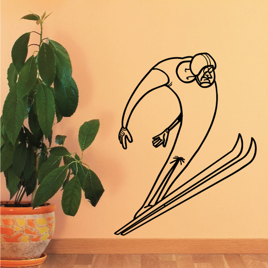Skiing Wall Decal - Vinyl Decal - Car Decal - Bl016