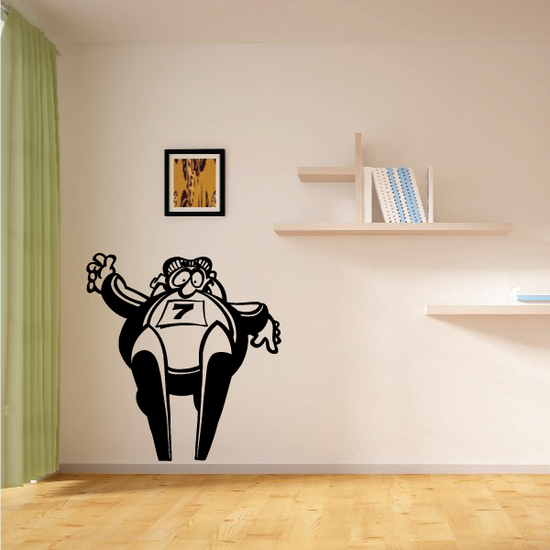 Skiing Wall Decal - Vinyl Decal - Car Decal - Bl017