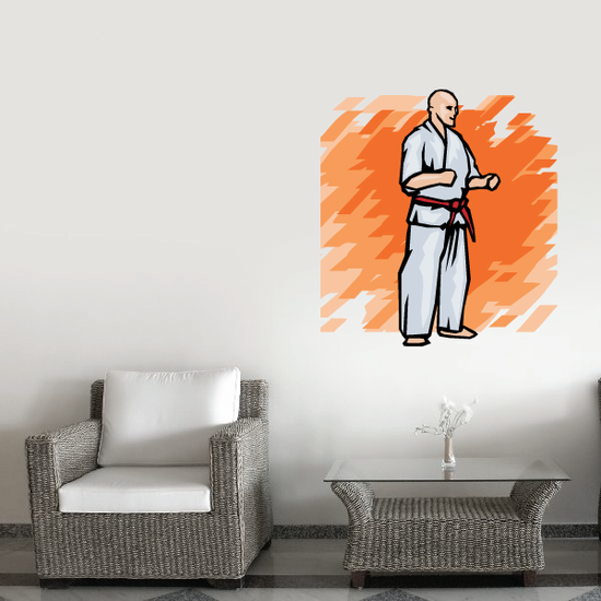 Karate Wall Decal - Vinyl Sticker - Car Sticker - Die Cut Sticker - SMcolor003