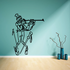 Skiing Wall Decal - Vinyl Decal - Car Decal - Bl025