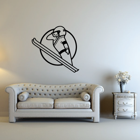 Skiing Wall Decal - Vinyl Decal - Car Decal - Bl028
