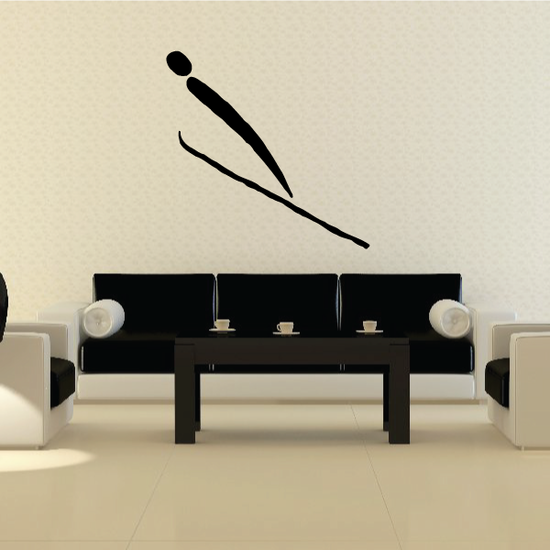 Skiing Wall Decal - Vinyl Decal - Car Decal - Bl029