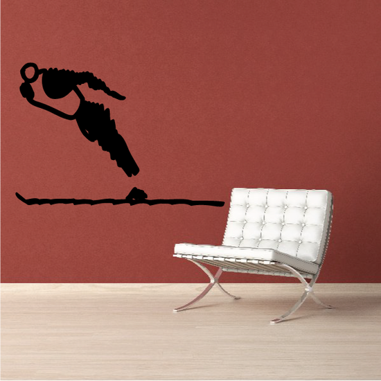 Skiing Wall Decal - Vinyl Decal - Car Decal - Bl032