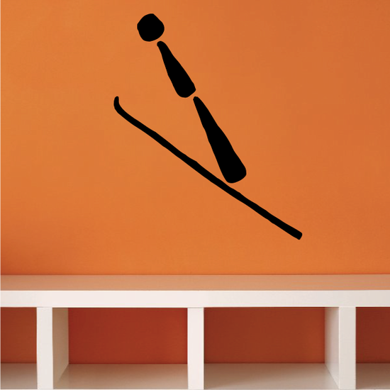 Skiing Wall Decal - Vinyl Decal - Car Decal - Bl034