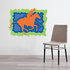 Orange Polo Horse Sticker