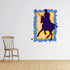 Purple and Blue Polo Player Sticker
