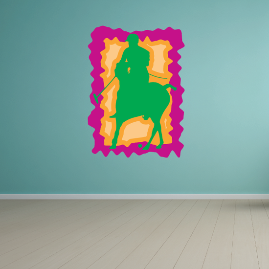 Pink and Green Polo Sticker