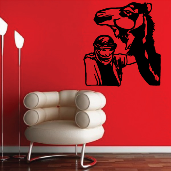 Man and Camel Decal