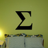 Sigma Greek Letter Decal