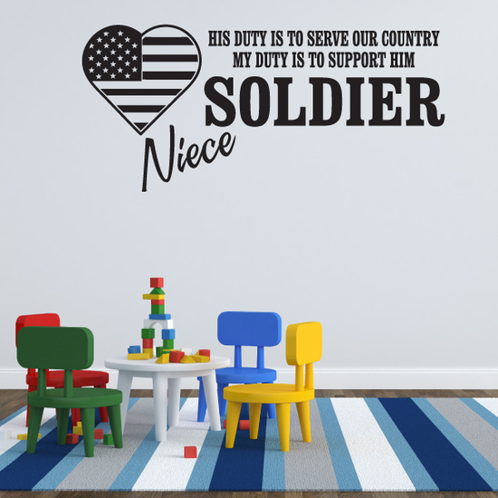 His Duty Niece Soldier Decal