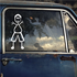 Dad Wide and Waving Both Arms Decal