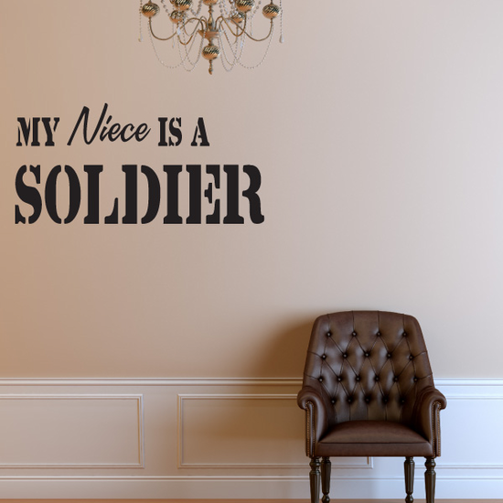 My Niece Is A Soldier Decal
