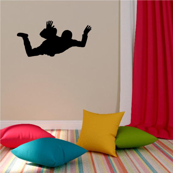 Skydiving Suspended Fall Decal