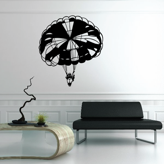 Skydiving Open Parachute Decal