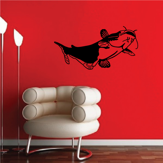 Gentle Floating Catfish Decal