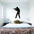 Walking Soldier Aiming Rifle Decal