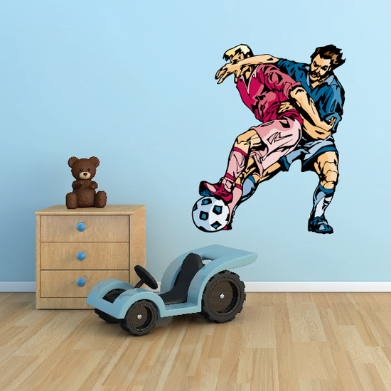 Soccer Wall Decal - Vinyl Sticker - Car Sticker - Die Cut Sticker - CDSCOLOR156