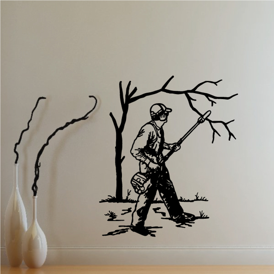 Electric Pole Chainsaw Decal