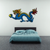 Chinese Colored Walking Blue Dragon Sticker
