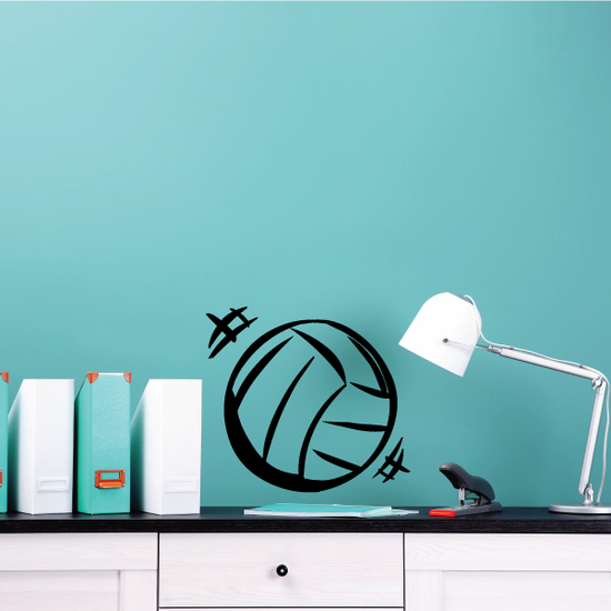 Volleyball in Motion Decal