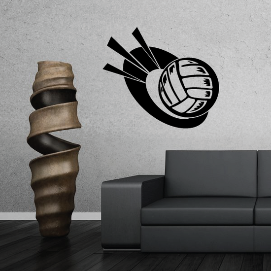 Volleyball Trophy Decal
