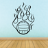 Flaming Volleyball Vinyl Decal