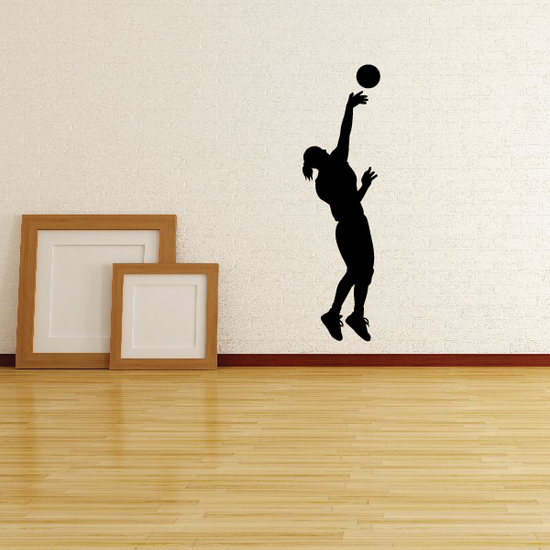 Volleyball Wall Decal - Vinyl Decal - Car Decal - 005