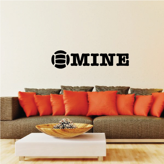 Volleyball Mine Wall Decal - Vinyl Decal - Car Decal - Vd008