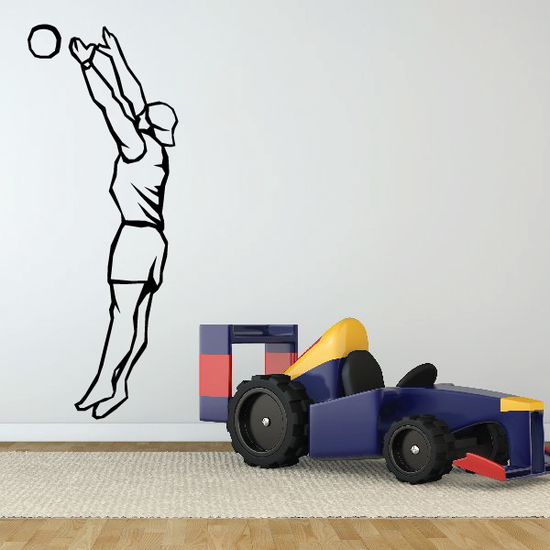 Volleyball Wall Decal - Vinyl Decal - Car Decal - SM003