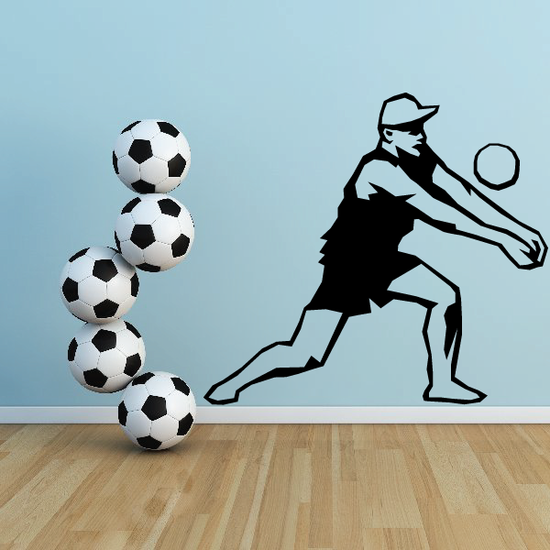 Volleyball Wall Decal - Vinyl Decal - Car Decal - SM004