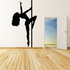 Pole Dancer Reaching Up Decal