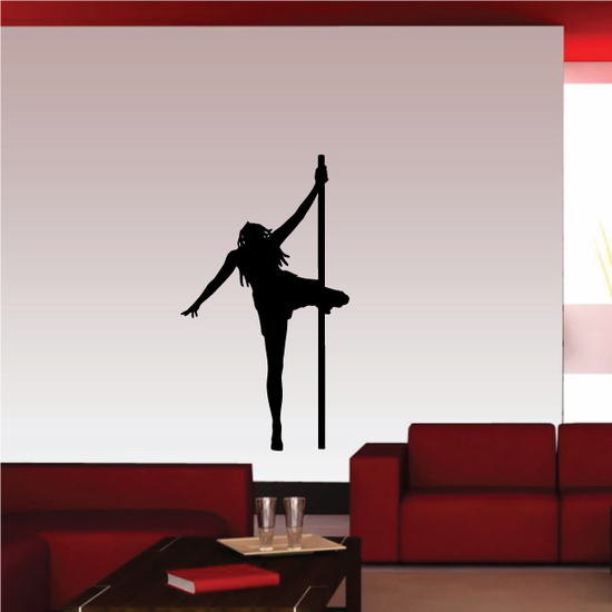 Pole Dancer Spinning by Knee Decal